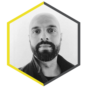 Hexagon shaped profile picture featuring Tomasso Rossi